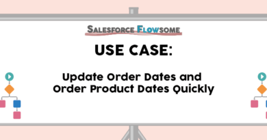 Use Case: Update Order and Order Product Dates Quickly
